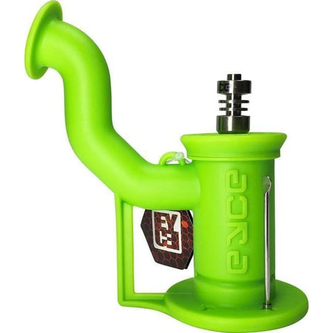 Image of EYCE Silicone Dab Rig Unbreakable Mini Concentrate Pipe - Slime Green