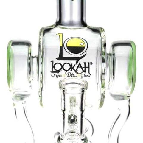 Glass Dab Rig Water Pipe Head Phones Recycler by Lookah