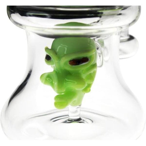 Image of Glass Dab Rig Water Pipe Slime Ghoul Head - Unbranded