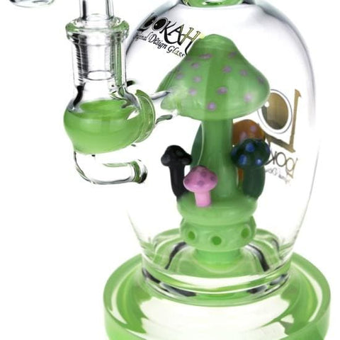 Glass Smoking Bong Water Pipe Mushroom Percolator by Lookah
