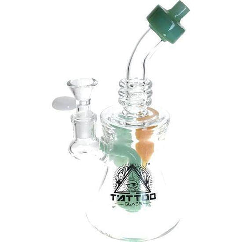 Heavy Glass Rig Bong Water Pipe Leaflet by Tattoo