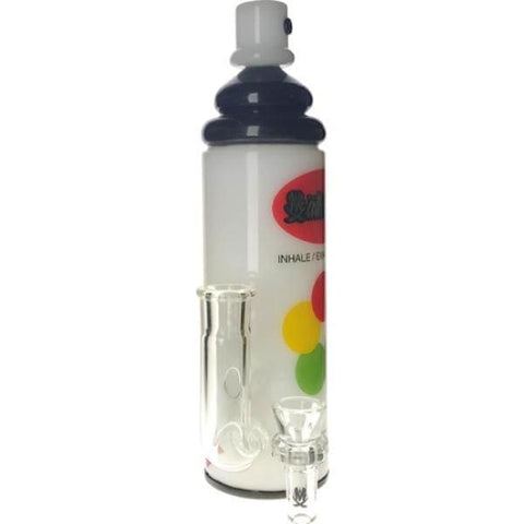 Mathematix Graffiti Spray Paint Thick Glass Bong Water Pipe