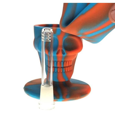 Platinum Cured Silicone Bong Detachable Indestructible Skull Design - Unbranded