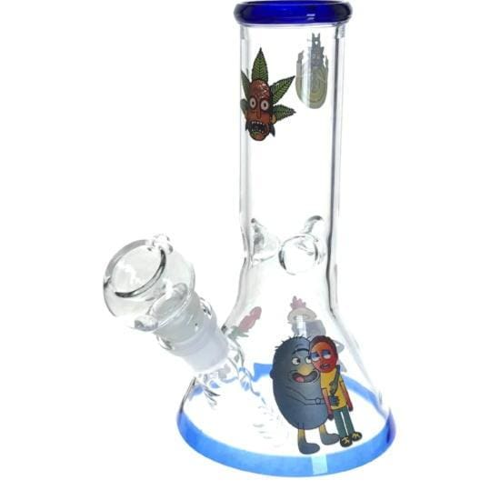 Rick Morty Thick Glass Beaker Bong Water Pipe - Unbranded