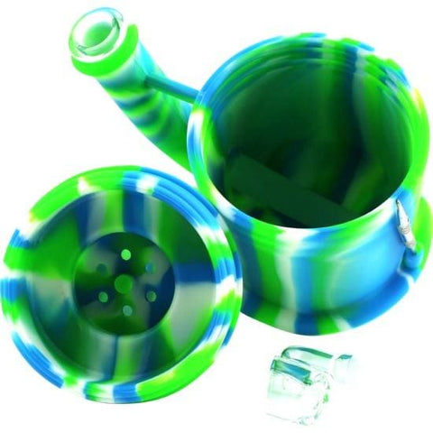 Image of Silicone Bong Detachable Unbreakable Water Pipe w/Ice Pinch (Tie-Dye) - Unbranded - Dab Rig