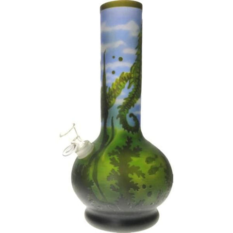 Image of Thick Glass Bong Water Pipe Seahorse Smoke - Unbranded