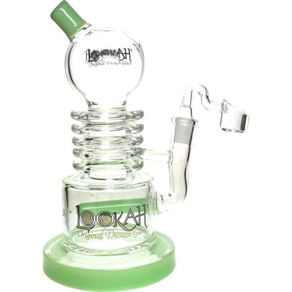 Thick Glass Dab Rig Smoking Water Pipe by Lookah - Green / Quartz Banger