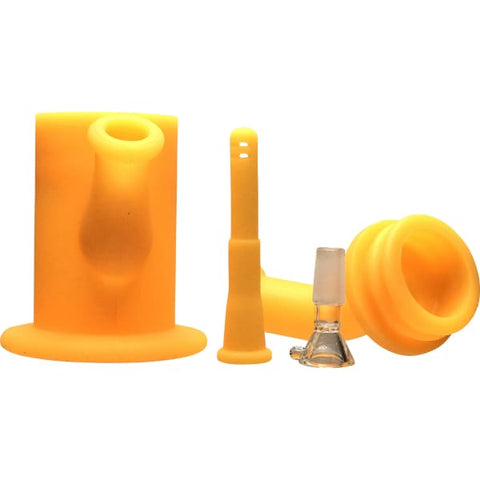 Unbreakable Silicone Bong Detachable Bubbler Pipe - Unbranded
