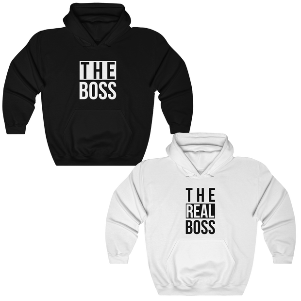 The Boss & The Real Boss Couples Hoodies