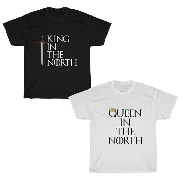 GOT Queen & King in The North Couple T-Shirt Set