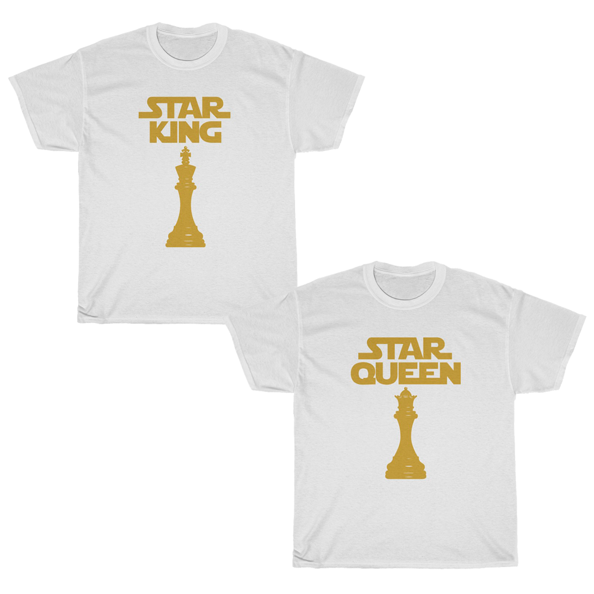 Chess Star Queen & King T-Shirt Set