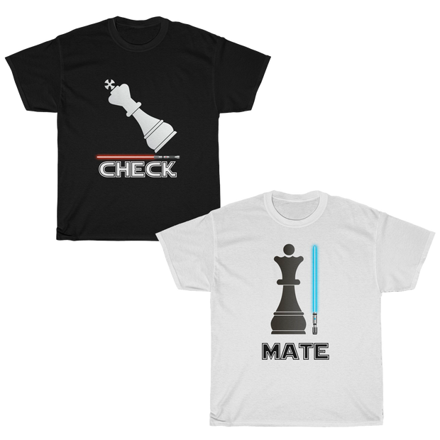 Chess CheckMate Couple T-shirt Set