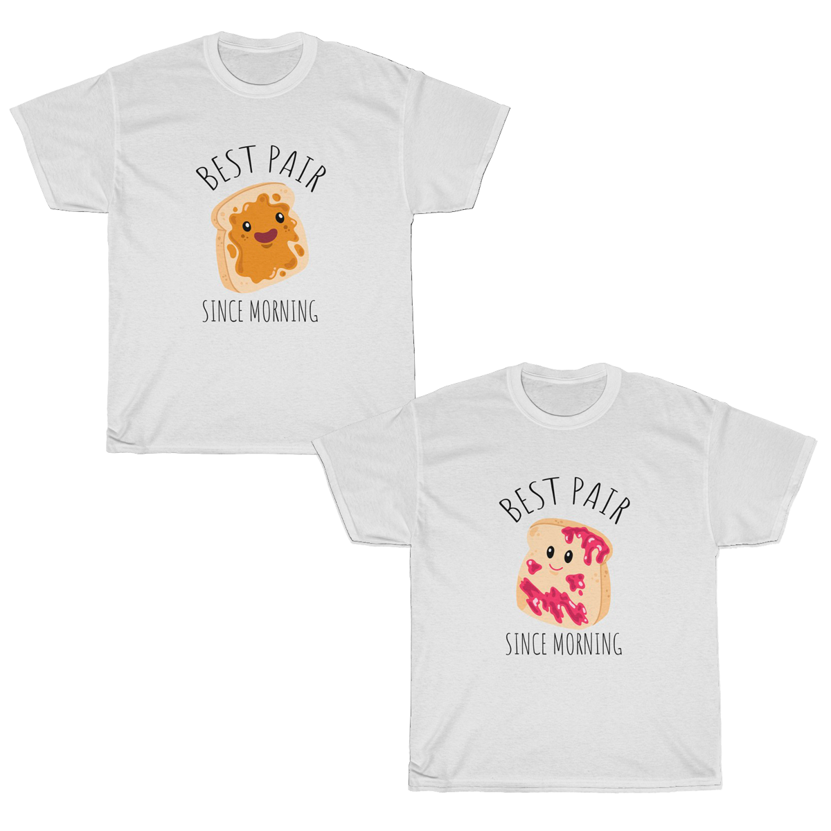 Perfect Match Toast Couples T-Shirt Set