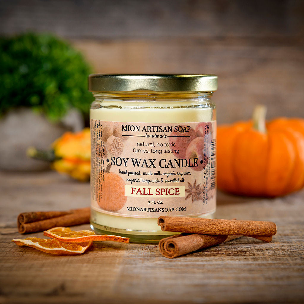 Fall Spice Organic Soy Candle