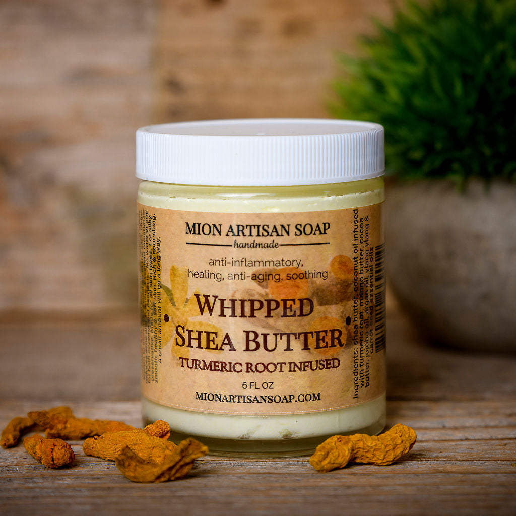 Whipped Shea Butter infused with Organic Turmeric Root