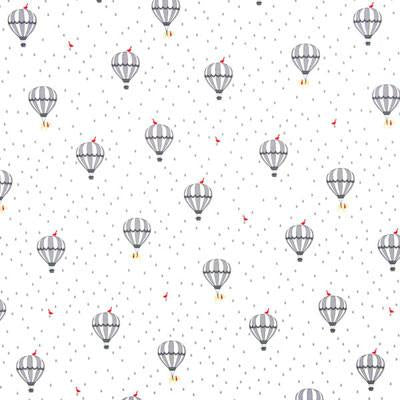 Gutermann Cotton Fabric 'Little Friends' Grey