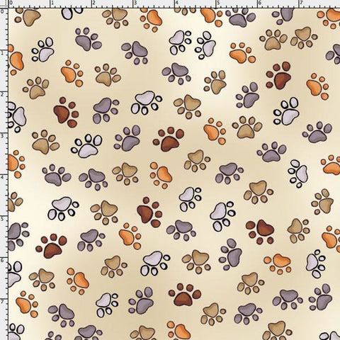 Doggie Delight Puppy Paws in Cream