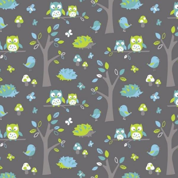 Woodland Owl in Dark Grey