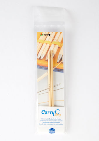 Carry C Long Interchangeable Bamboo Knitting Needles