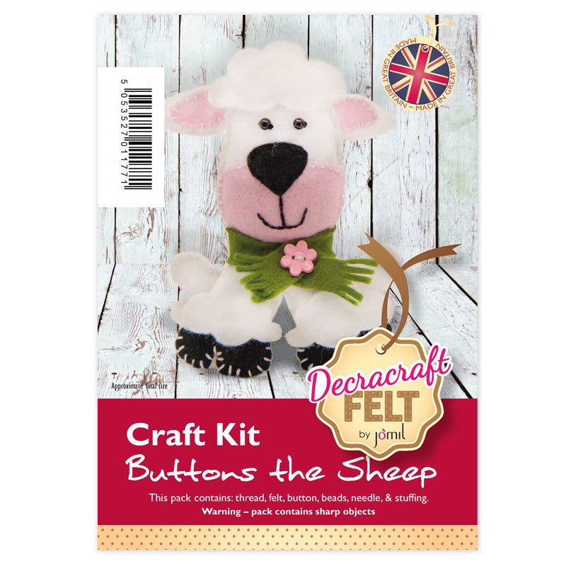 Buttons the Sheep Felt Kit
