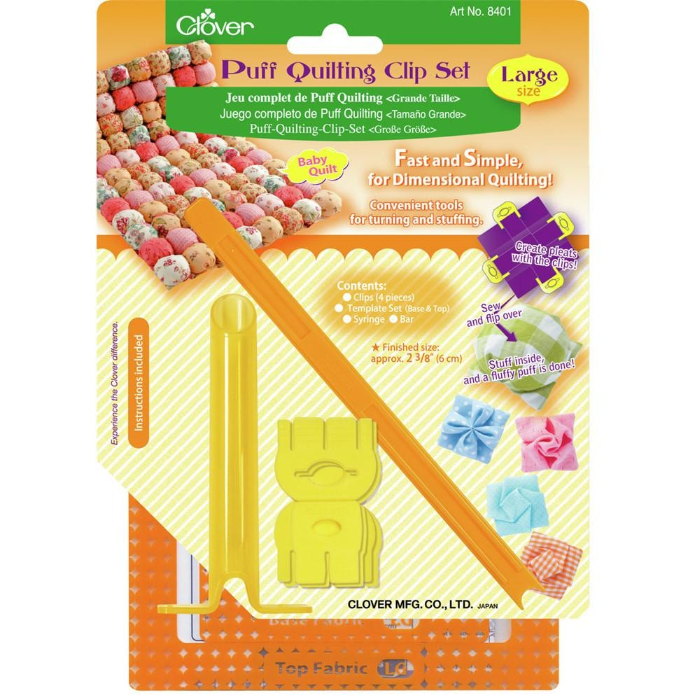 Clover Large Puff Quilting Clip Set.