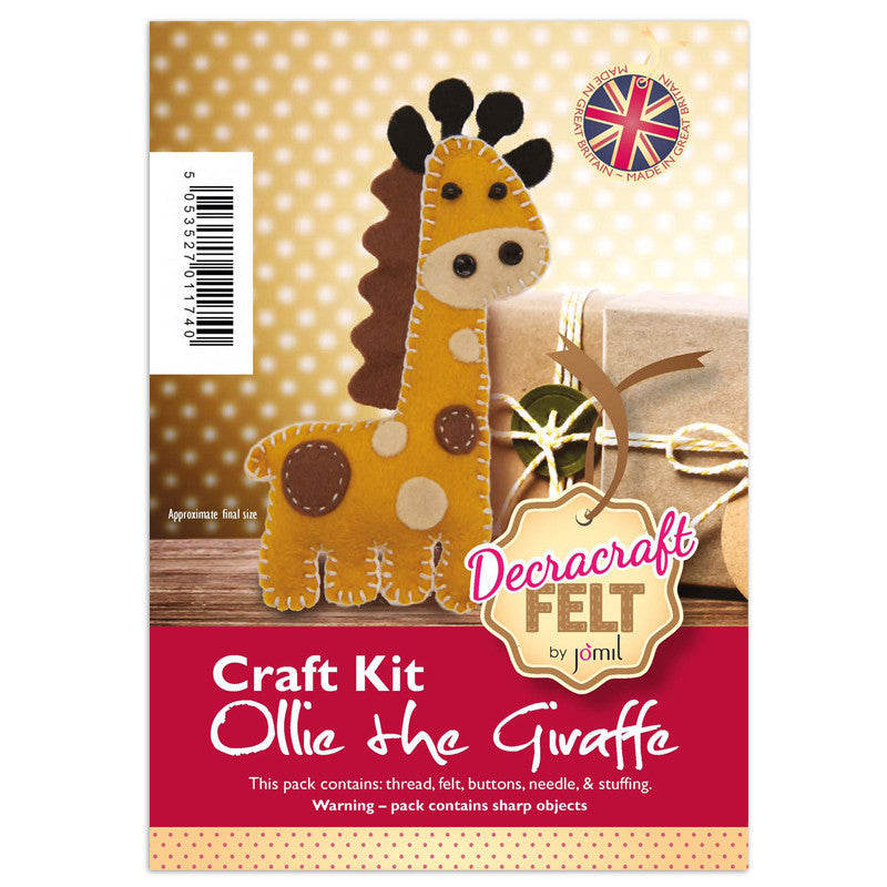 Ollie the Giraffe Felt Kit