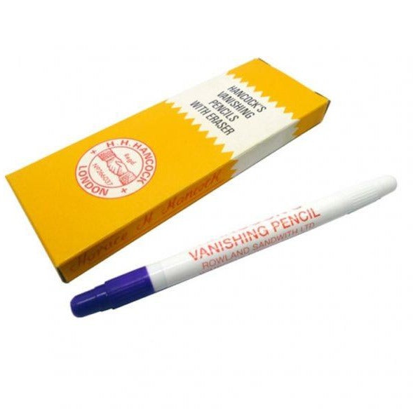 Hancocks Blue Tailors Vanishing Pencils with Eraser – 5 Pack