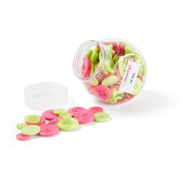 Hi Viz Mix of Buttons in a Jar