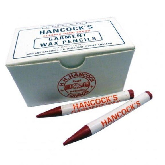 Hancocks Red Garment Marking Wax Pencils- Box Of 25