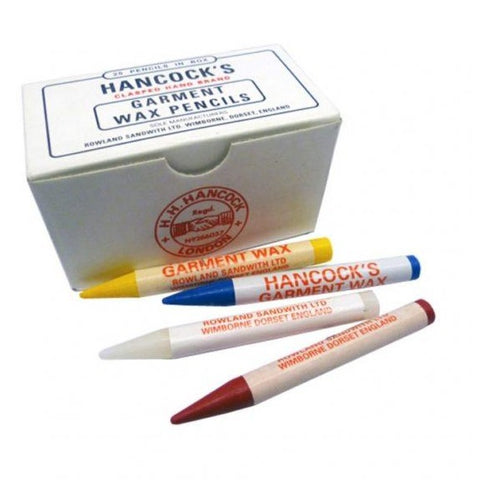 Hancocks Assorted Garment Marking Wax Pencils- Box Of 25