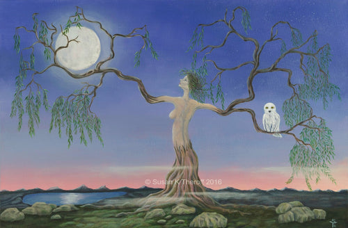 Selene and the Moon Giclee Print