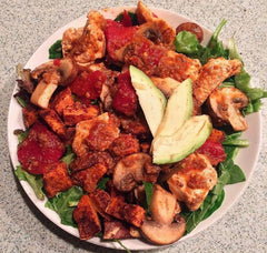 Momma K's Healthy Spinach Chicken Plate