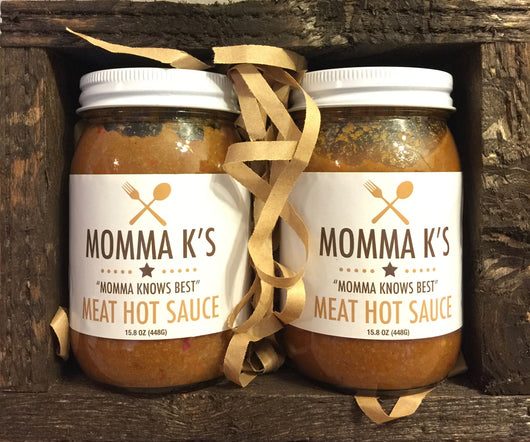 Momma K's Meat Hot Sauce 2-pack