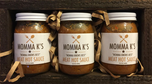 Momma K's Meat Hot Sauce 3-Pack