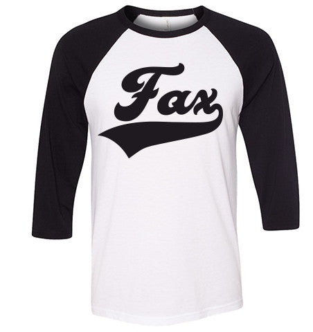 Fax Raglan Black/White