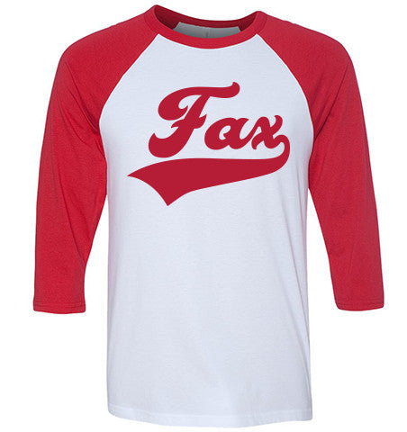 Fax Raglan Red/White