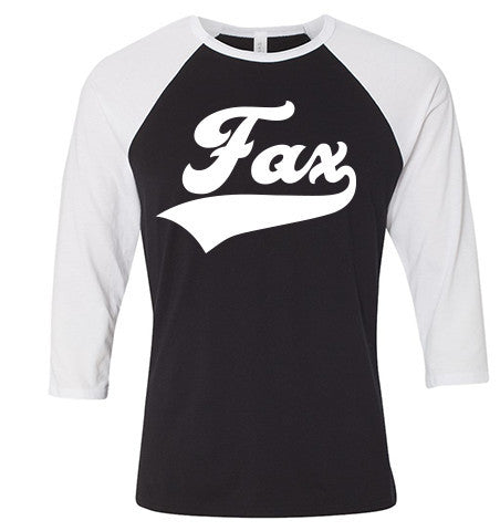 Fax Raglan White/Black