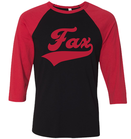 Fax Raglan Red/Black