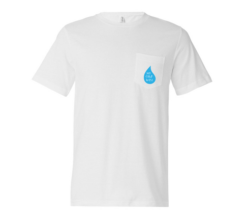 Wet Like Wata Pocket T-Shirt White