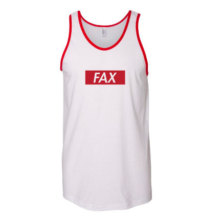 FAX White/Red Tank