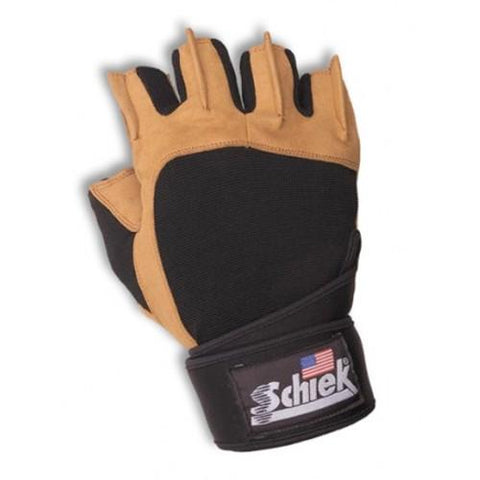 Schiek Power Gel Lifting Gloves with Wrist Wraps