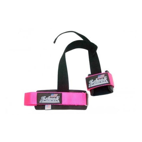 Schiek Pink Power Lifting Straps