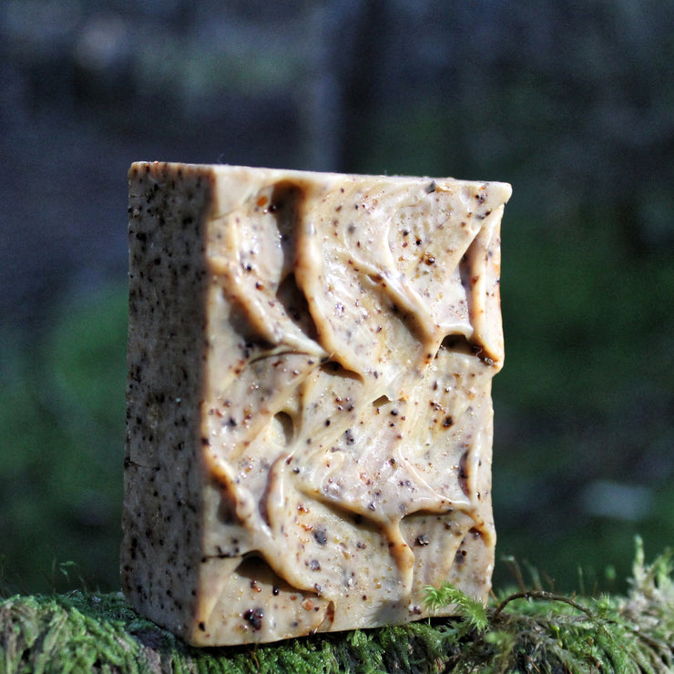 Expresso (Coffee Cacao Almond Scrub) Soap - Organic, Probiotic, & Medicinal - Clearwater Cultures