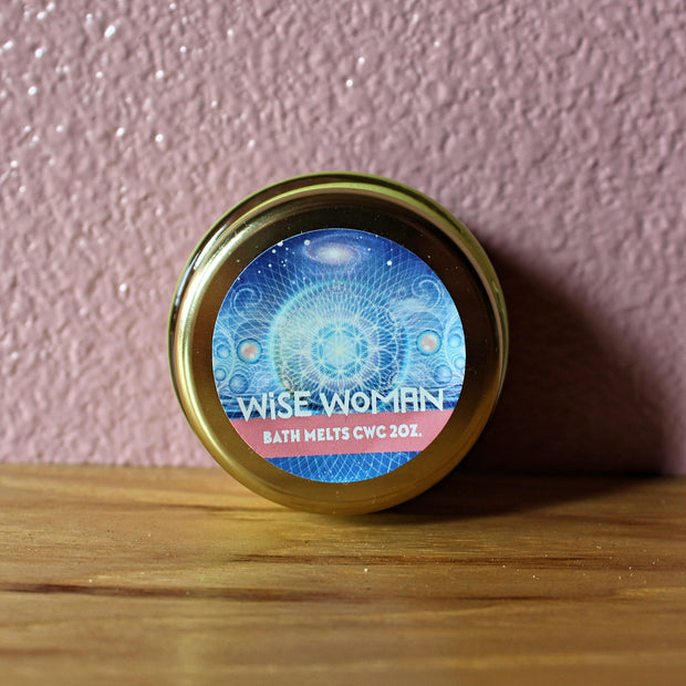 Wise Woman - Bath Oil Melt - Organic, Probiotic, & Medicinal - 2oz. - Clearwater Cultures