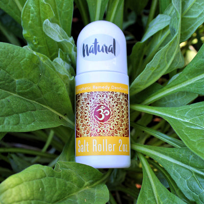 Lymphatic Remedy - Salt Roller Deodorants - Organic & Medicinal - (Natural) - 2oz. - Refillable - Clearwater Cultures