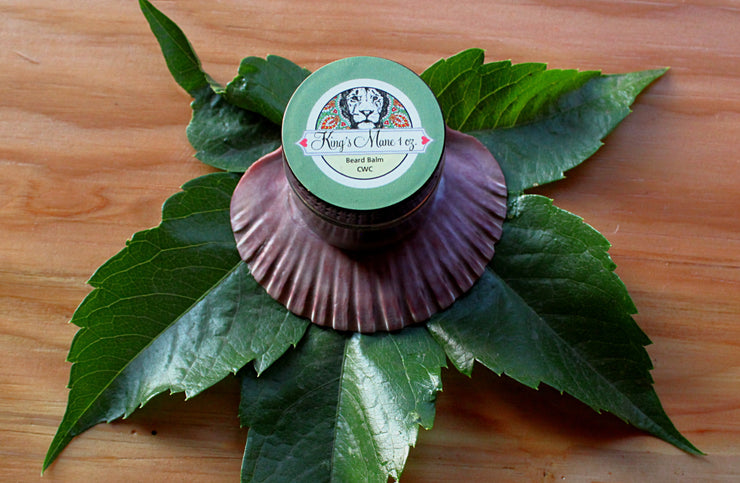 King's Mane Beard Balm - Organic, Probiotic, & Medicinal - 1oz. - Clearwater Cultures