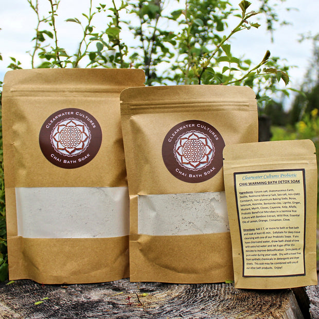 Chai - Warming & Invigorating - Detox Bath Soak - Various Sizes - Clearwater Cultures