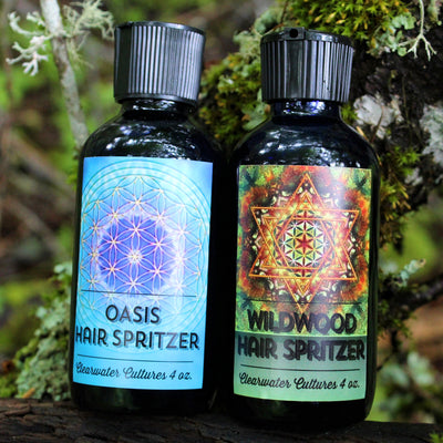 Hair Spritzer - Probiotic, Organic, & Medicinal - Hair Treatment - 4oz. - Clearwater Cultures