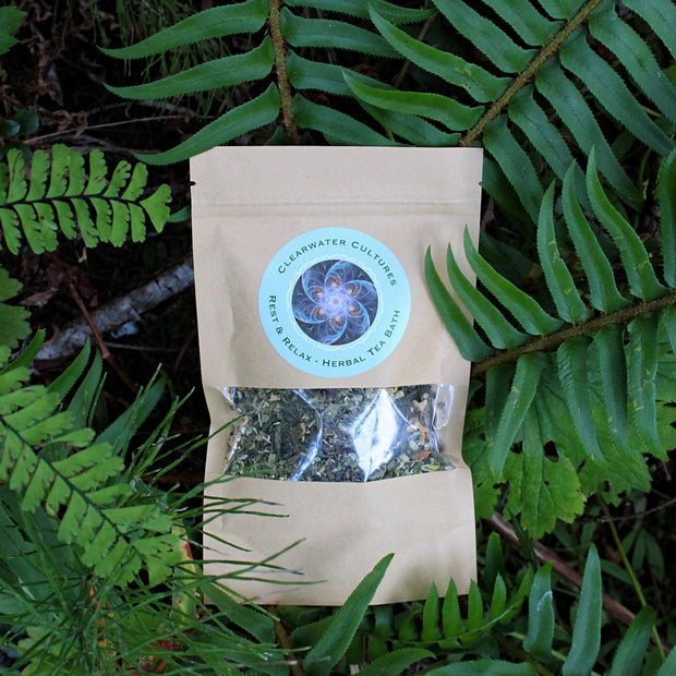 Rest & Relax - Herbal Tea Bath - Organic & Medicinal - 1oz. - Clearwater Cultures