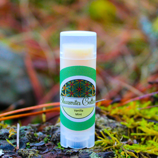 Vanilla Mint - Organic & Probiotic - Lip Balm - .15 oz. - Oval Tube - Clearwater Cultures